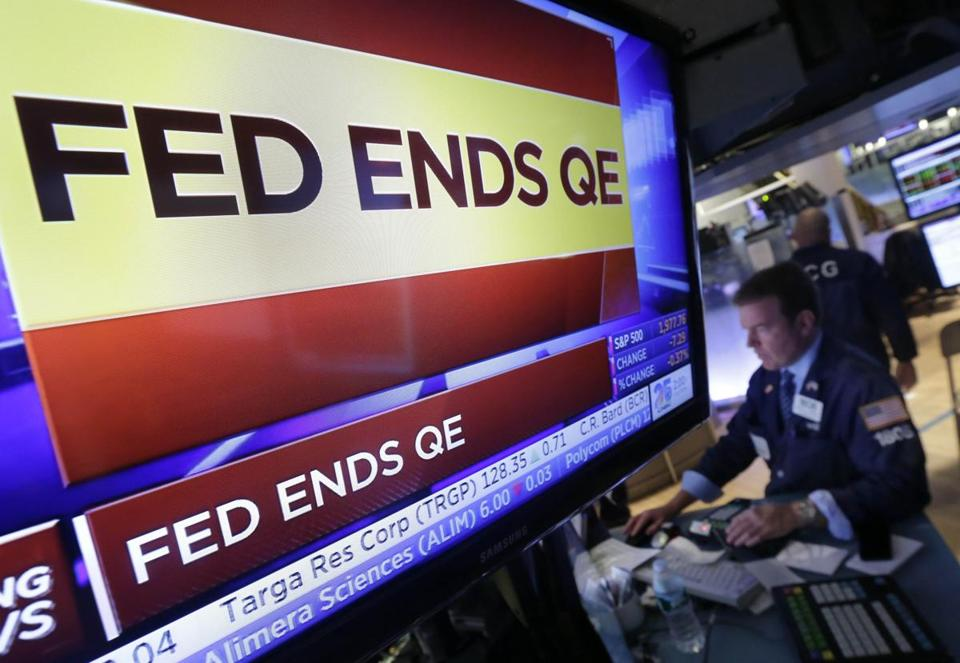 The Fed decided to end quantitative easing in October.